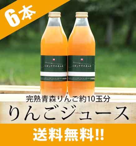 青森りんご100% 濃厚林檎ジュース「しぼって そのまんま」  1箱(1本1L×6本入り)