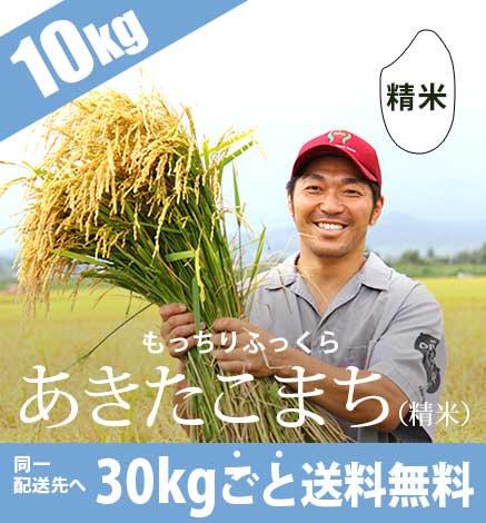 低農薬米あきたこまち(精米) 10kg 《平成30年度産青森米》