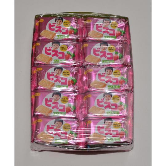 【箱売駄菓子】ビスコいちご(20個入り 単価40円以下)