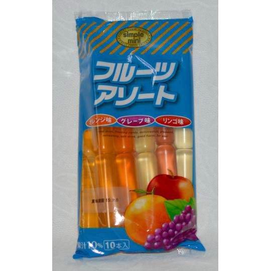 【袋売駄菓子】フルーツアソート(10個本入り 単価100円以内)