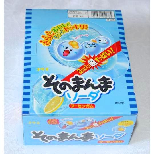 【箱売駄菓子】そのまんまソーダフーセンガム(20個入り 単価30円以下)