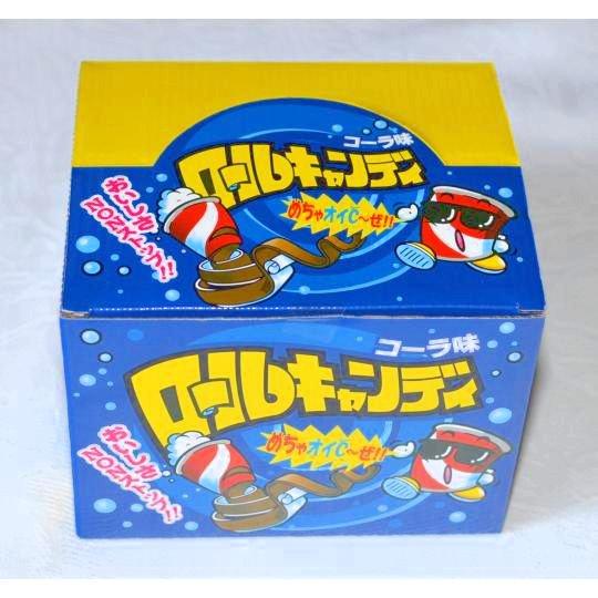 【箱売駄菓子】ロールキャンディ コーラ味(24個入り 単価35円以下)