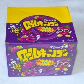 【箱売駄菓子】ロールキャンディ グレープ味(24個入り 単価35円以下)