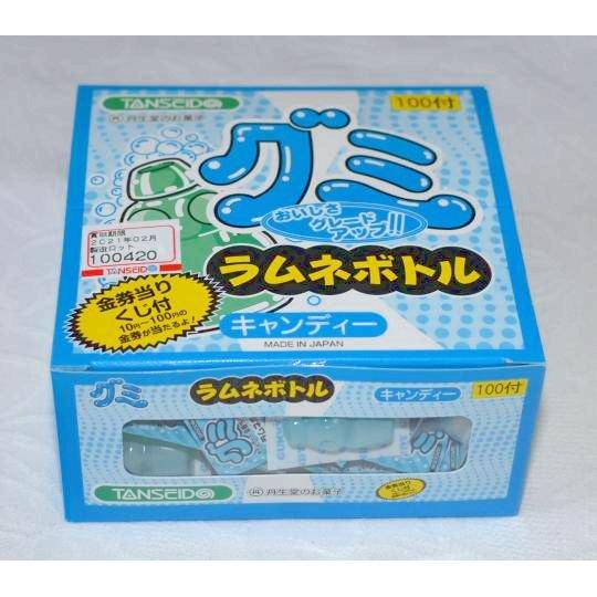 【箱売駄菓子】グミキャンデーラムネボトル (100個入り 単価10円以下)
