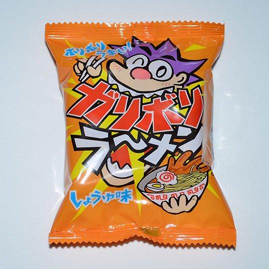 【箱売駄菓子】ガリボリラーメン しょうゆ味(21個入り 単価30円以下)