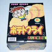 【箱売駄菓子】ポテトフライ カルビ焼の味(20個入り 単価35円以下)