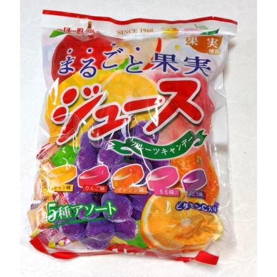 【箱売駄菓子】まるごと果実ジュースフルーツキャンデー(約250粒入り)
