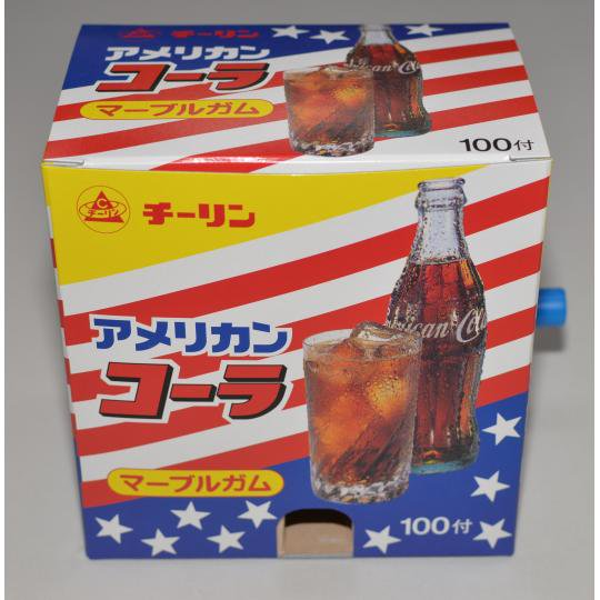 【箱売駄菓子】アメリカンコーラマーブルガム(フーセンガム)