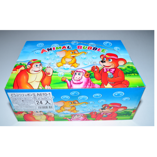 【小物玩具】どうぶつシャボン玉(24個入り)