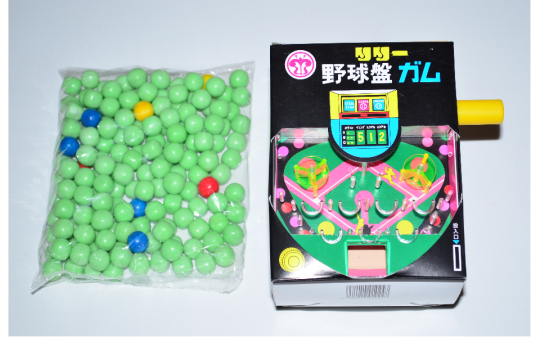 【箱売駄菓子】野球盤ガム(押しガム)