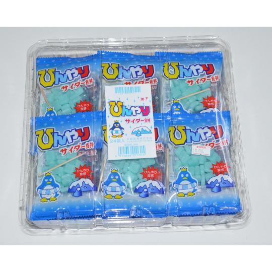 【箱売駄菓子】ひんやりサイダー餅(24個入り 単価30円以下)