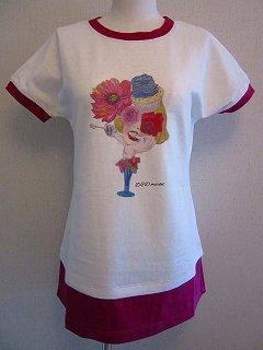 女の子pt Tシャツ(ピンク)F