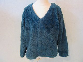 plush boa cardigan(green)130-160