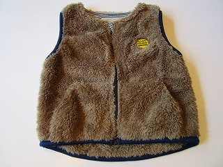 plush vest(brown)S