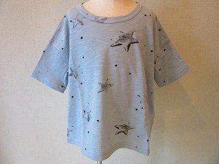 星柄Tシャツ(ブルー)LL