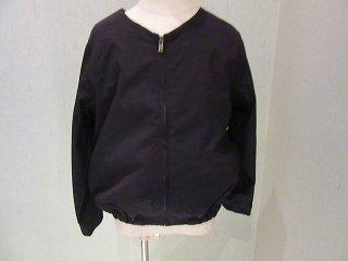 ナイロンストレッチブルゾン(BLACK)130〜150