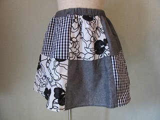 切替スカート(ブラック)80-140