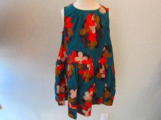 レーネックジャンパードレス(ブルーグリーン)120-140