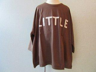 littleプリントTシャツBrown(XS〜145)