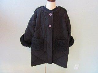 quilting long coat(ブラック)S.M