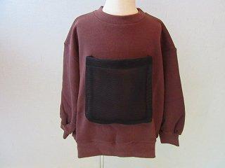 front pocket sweats(ブラウン)F