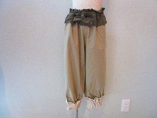 タイルコード刺繍パンツ(beige)SS.S.M