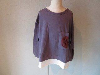 接結レイヤードTシャツ(PURPLE)90-120