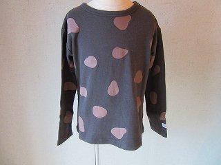 接結スタンパートTシャツ(CHARCOAL)80-120