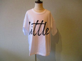 littleプリントTシャツWhite(XS〜145)