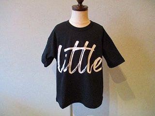 littleプリントTシャツBlack(XS〜145)