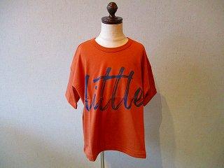littleプリントTシャツDarkOrange(XS〜145)