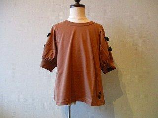 Tシャツ袖リボン(ブラウン)90-120