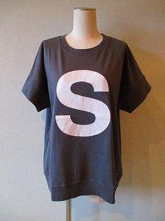 キャピタルレターTシャツ(CHARCOAL)S・M・L