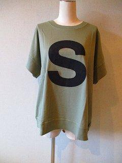 キャピタルレターTシャツ(MILITARY)S・M・L