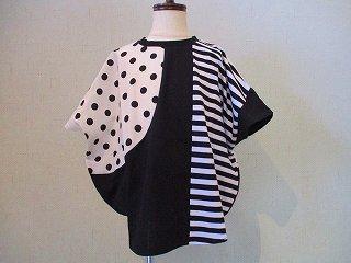 モノトーン円形Tシャツ(ブラック)S.M