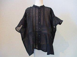 アシメレースビックブラウス(ブラック)100-140