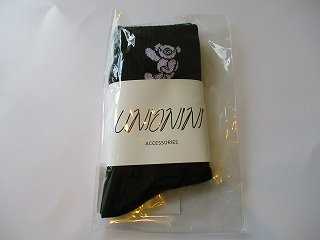jacquard teddybear socks(black)16-18.19-21.22-24
