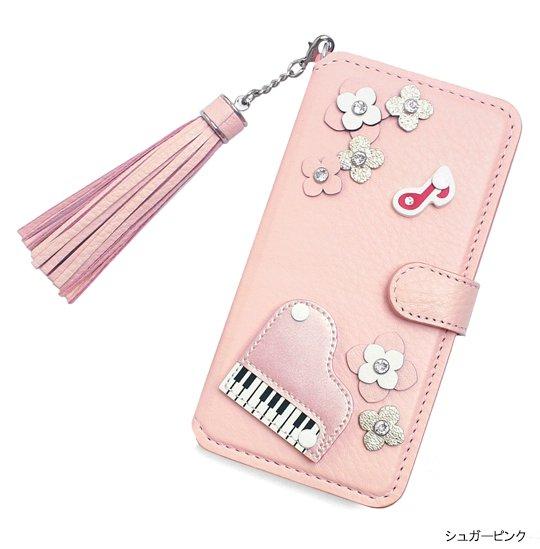 6e51e602b4 【 iPhone6/7/8/X/XS/XSMax/XR対応 】 iPhone本革手帳型フラップケース (2色)ピアノ