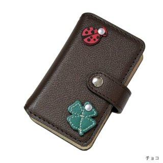 キッズスマホケース / レザー手帳型携帯電話ケース  クローバー&テントウムシ KFC6-0007