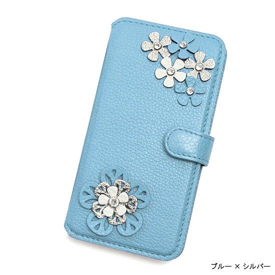 iphone7&6(S) / 7&6(S)plus 手帳型フラップケース  シュリンク(6色)ビジュールフラワー
