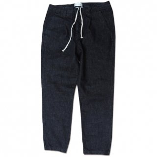 <img class='new_mark_img1' src='//img.shop-pro.jp/img/new/icons16.gif' style='border:none;display:inline;margin:0px;padding:0px;width:auto;' />Denim Pleat tapered pants(デニムプリーツテーパードパンツ/ワンウォッシュ)