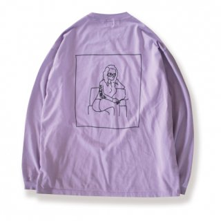 <img class='new_mark_img1' src='https://img.shop-pro.jp/img/new/icons47.gif' style='border:none;display:inline;margin:0px;padding:0px;width:auto;' />Smoker lady back print L/S Tee (スモーカーレディバックプリントロンT/パープル)