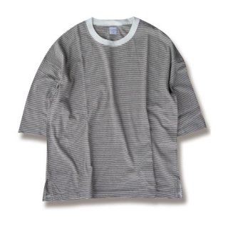 <img class='new_mark_img1' src='https://img.shop-pro.jp/img/new/icons47.gif' style='border:none;display:inline;margin:0px;padding:0px;width:auto;' />Loose border 3/4 sleeve tee(ルーズボーダー7分袖/blown)