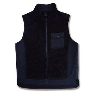 <img class='new_mark_img1' src='https://img.shop-pro.jp/img/new/icons12.gif' style='border:none;display:inline;margin:0px;padding:0px;width:auto;' />Hard seep boa vest(ハードシープボアベスト/ブラック)