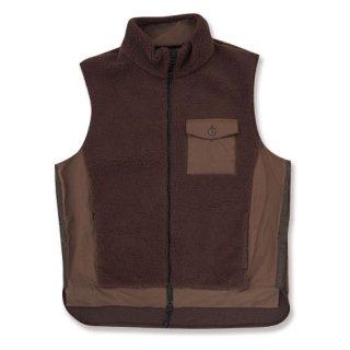 <img class='new_mark_img1' src='https://img.shop-pro.jp/img/new/icons12.gif' style='border:none;display:inline;margin:0px;padding:0px;width:auto;' />Hard seep boa vest(ハードシープボアベスト/ブラウン)