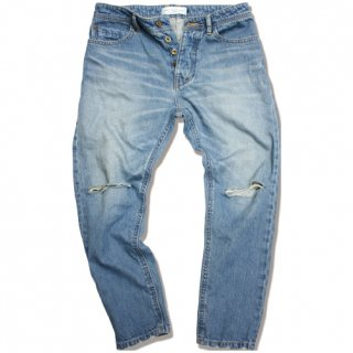 <img class='new_mark_img1' src='//img.shop-pro.jp/img/new/icons47.gif' style='border:none;display:inline;margin:0px;padding:0px;width:auto;' />Ankle length Tapered crash denim(Vintage wash)