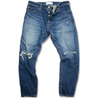 <img class='new_mark_img1' src='//img.shop-pro.jp/img/new/icons47.gif' style='border:none;display:inline;margin:0px;padding:0px;width:auto;' />Ankle length Tapered crash denim(Dark wash)