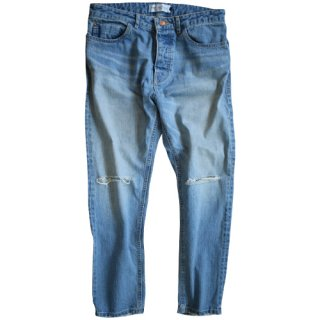<img class='new_mark_img1' src='//img.shop-pro.jp/img/new/icons47.gif' style='border:none;display:inline;margin:0px;padding:0px;width:auto;' />Crash ankle tapered denim (light wash)