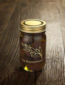 ギリシャ カラマタ産オリーブホール オイル漬け 140g