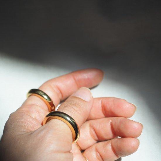 ゴールドエタニティー(Etrenity)ランデブーシルバー円柱リングk18ptg (号数を選んでください)
